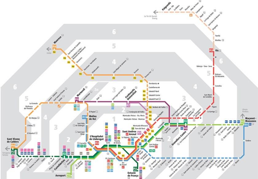 Barselona-Metro-Haritası